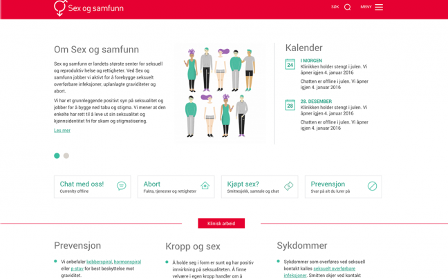 Sex og samfunn homepage