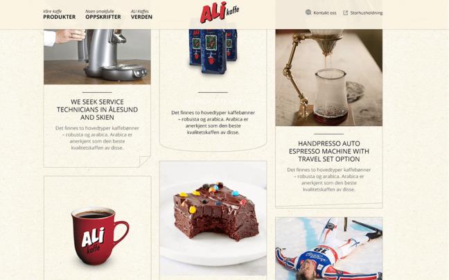 Ali kaffe homepage